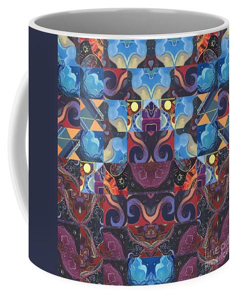 The Joy Of Design Coffee Mug featuring the digital art The Joy Of Design Mandala Series Puzzle 6 Arrangement 8 by Helena Tiainen