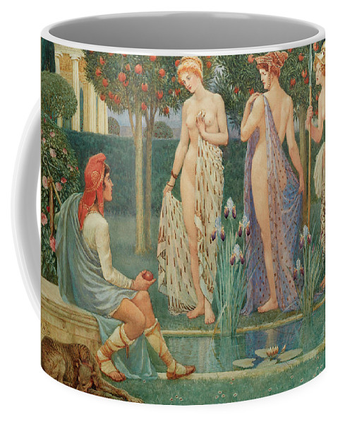 Judgement Of Paris Coffee Mug featuring the painting The Judgment Of Paris by Walter Crane