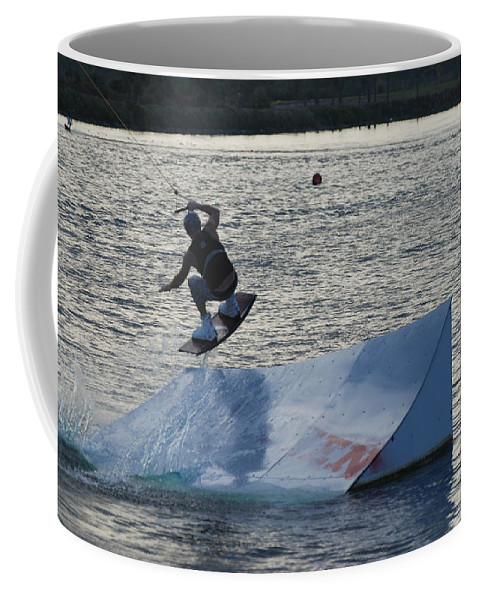 Waves Coffee Mug featuring the photograph The Jumper by Rob Hans