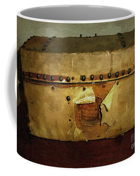 Americana Coffee Mug featuring the painting The Keepsake Chest by RC DeWinter