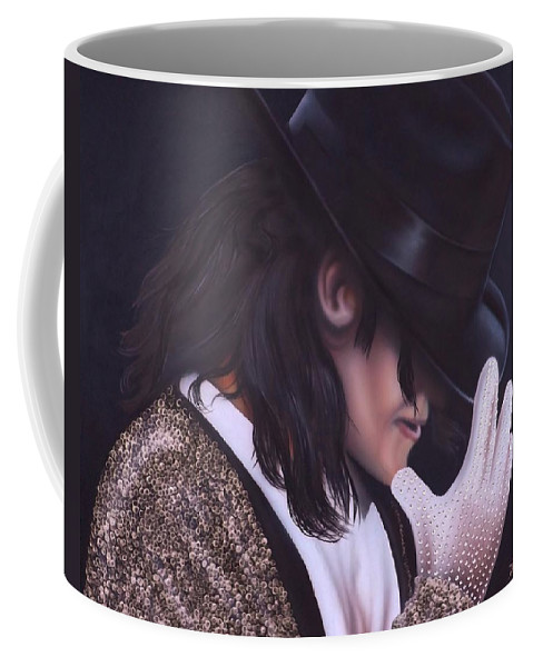 The King Of Pop Coffee Mug featuring the painting The King of Pop by Darren Robinson