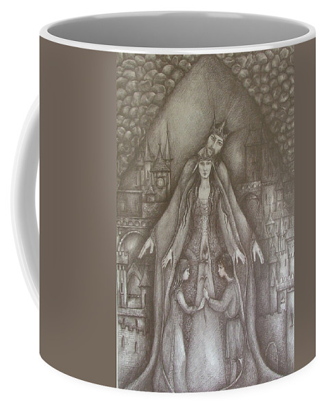 Drawing Coffee Mug featuring the drawing Royal Family by Rita Fetisov