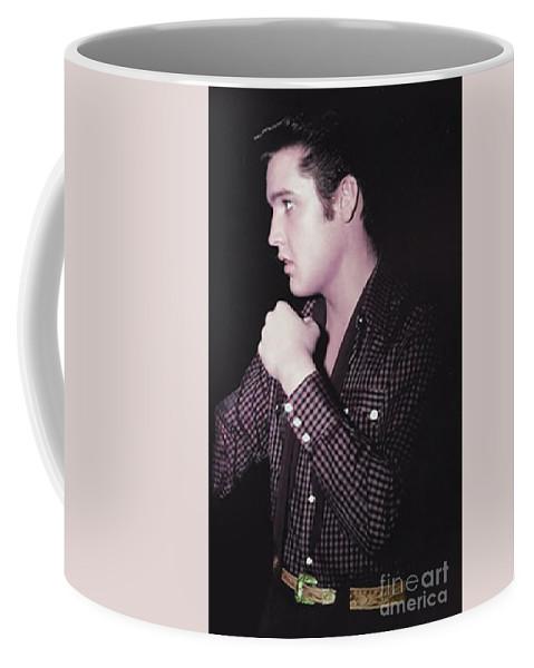 Elvis Coffee Mug featuring the photograph The King Rocks On Xxix by Al Bourassa