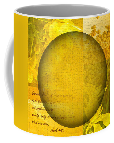 ruth Palmer Coffee Mug featuring the digital art The Kingdom Of God Is Like A Mustard Seed by Ruth Palmer