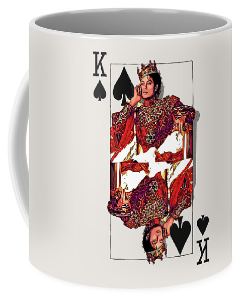 'the Kings' Collection By Serge Averbukh Coffee Mug featuring the digital art The Kings - Michael Jackson by Serge Averbukh