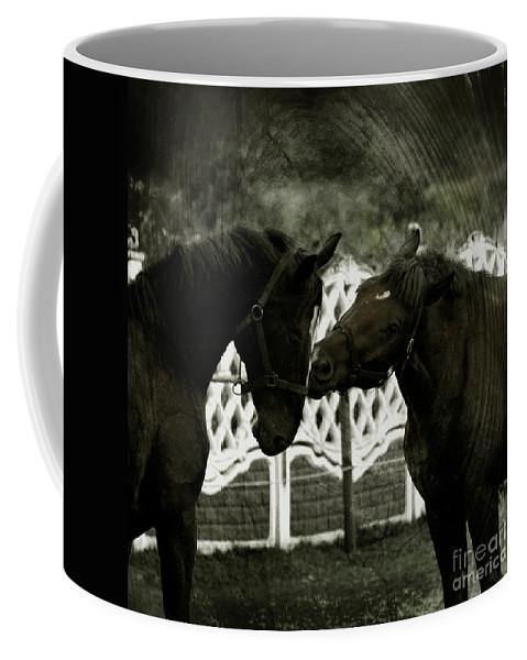 Kiss Coffee Mug featuring the photograph The Kiss by Angel Tarantella