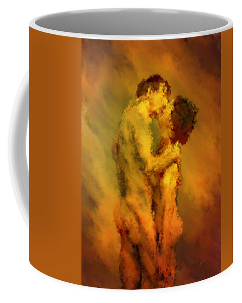 Nudes Coffee Mug featuring the photograph The Kiss by Kurt Van Wagner
