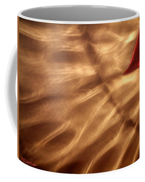 Glow Coffee Mug featuring the painting The Kiss Of The Sun by RC DeWinter