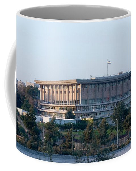 Psi Coffee Mug featuring the photograph The Knesset, Jerusalem 2 by Ohad Shahar