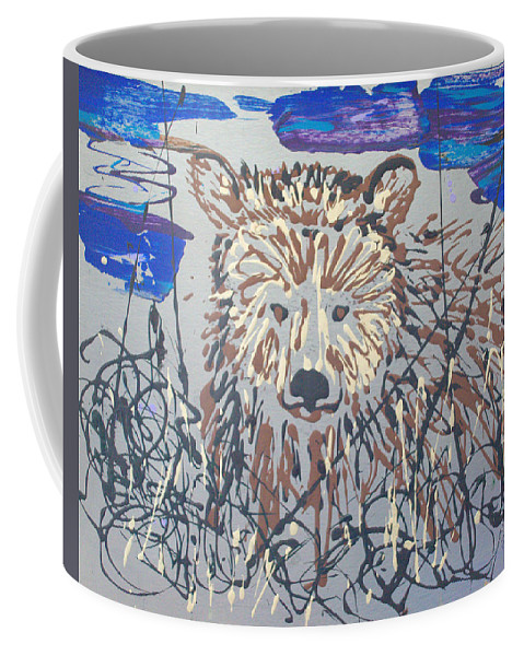 Abstract/impressionist Painting Coffee Mug featuring the painting The Kodiak by J R Seymour