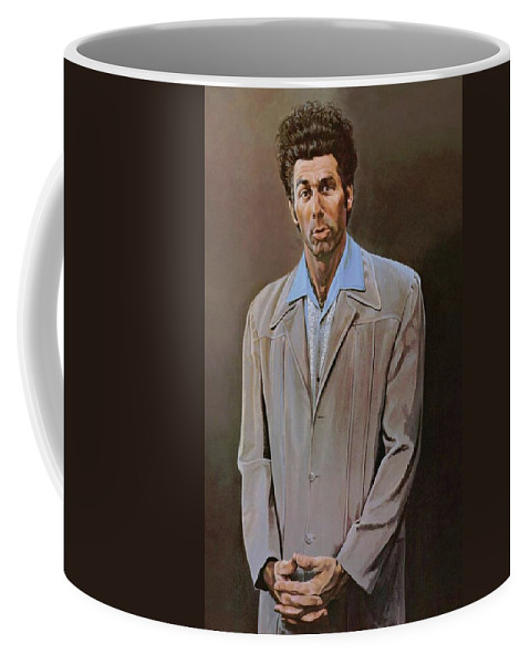 Seinfeld Coffee Mug featuring the painting The Kramer Portrait by Movie Poster Prints