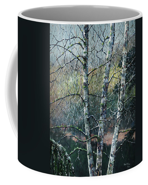 Landscape Coffee Mug featuring the painting The Kubota Three by Paul Illian