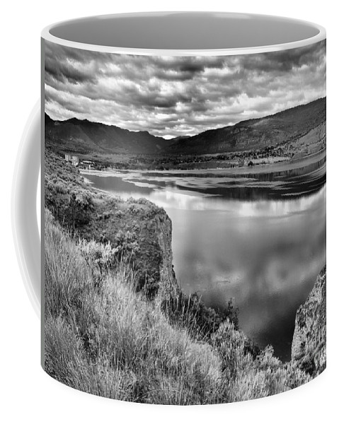Lake Coffee Mug featuring the photograph The Lake In Black And White by Tara Turner