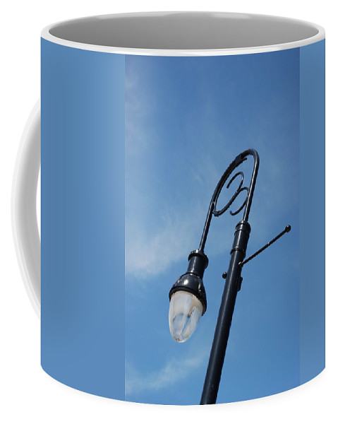 Blue Sky Coffee Mug featuring the photograph The Lamp Post by Rob Hans