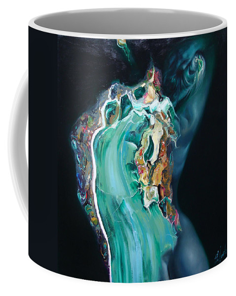 Ignatenko Coffee Mug featuring the painting The Landlady Of Copper Mountain by Sergey Ignatenko