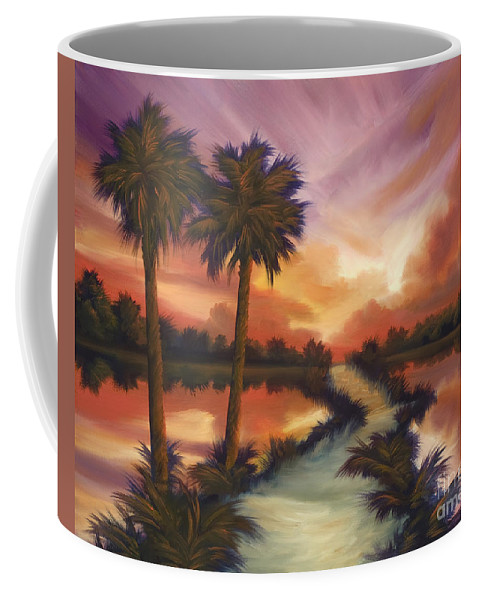 Skyscape Coffee Mug featuring the painting The Lane Ahead by James Christopher Hill