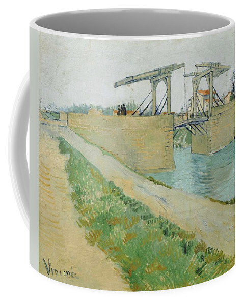 Nature Coffee Mug featuring the painting The Langlois Bridge by Artistic Panda