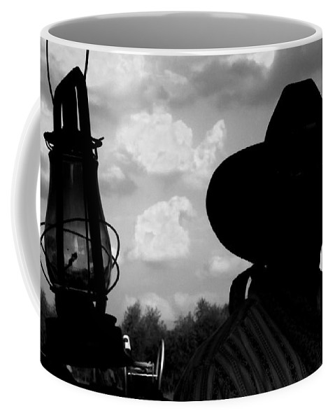 Cowboy Coffee Mug featuring the photograph The Lantern On The Trail by Toni Hopper
