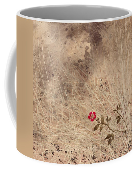Abstract Coffee Mug featuring the digital art The Last Blossom by William Russell Nowicki