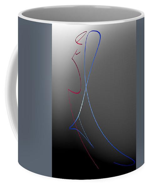 Abstract Coffee Mug featuring the digital art The Last Dance by John Krakora