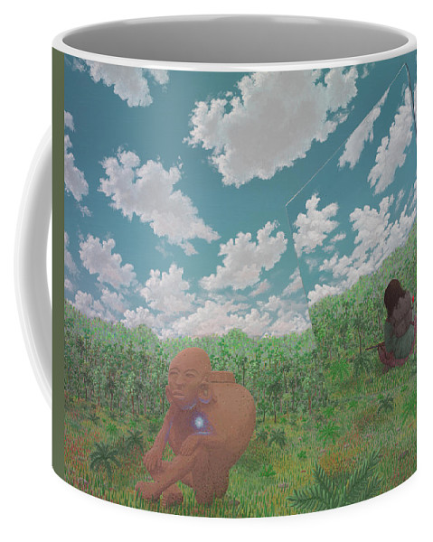 Surreal Landscape Coffee Mug featuring the painting The Last Itza by Jon Carroll Otterson