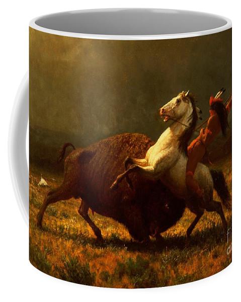 Albert Bierstadt Coffee Mug featuring the painting The Last of the Buffalo by Albert Bierstadt