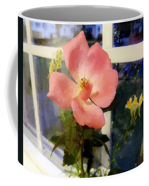 Rose Coffee Mug featuring the painting The Last Rose Of Summer by RC deWinter