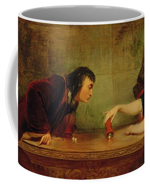 Girl Coffee Mug featuring the painting The Last Throw , Charles Robert Leslie by Charles Robert Leslie