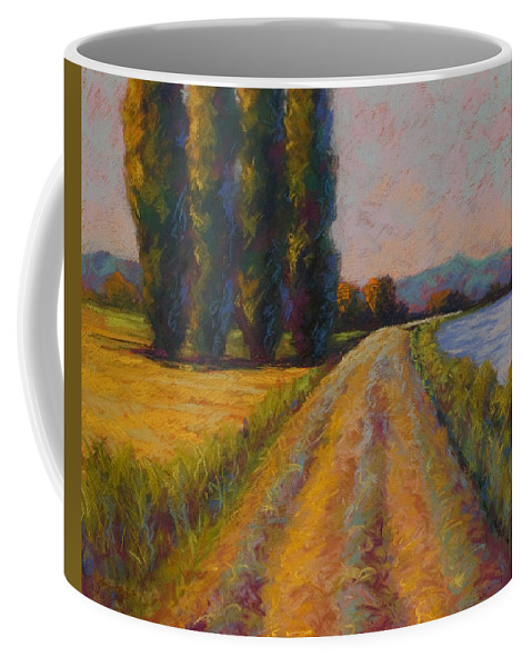 Pastel Coffee Mug featuring the painting The Levee by Marion Rose