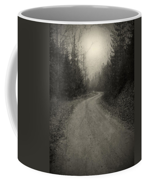 Road Coffee Mug featuring the photograph The Light At The End Of The Road by Tara Turner