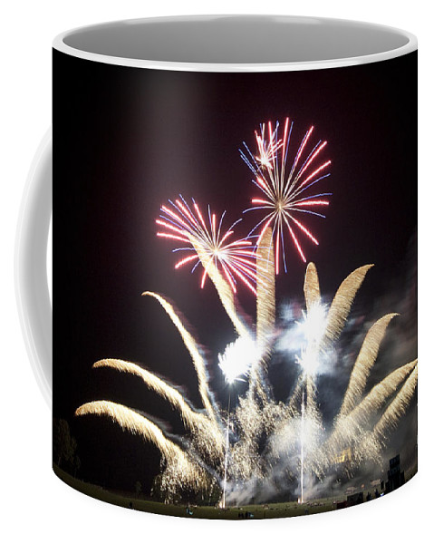 Firework Coffee Mug featuring the photograph The Light Flowers by Angel Ciesniarska