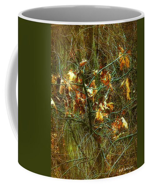 Autumn Coffee Mug featuring the digital art The Light In The Forest by RC DeWinter