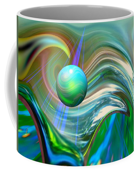 Elaine Bawden Coffee Mug featuring the digital art The Light Inside by Elaine Bawden