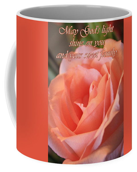 Card Coffee Mug featuring the photograph The Light Of God by Carol Groenen