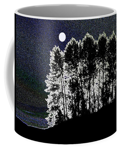 Moon Coffee Mug featuring the digital art The Light Of The Moon by Will Borden