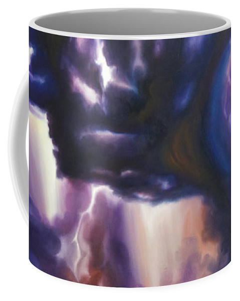 Tempest Coffee Mug featuring the painting The Lightning by James Christopher Hill