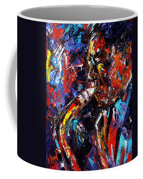 Jazz Coffee Mug featuring the painting The Likes Of Bird by Debra Hurd