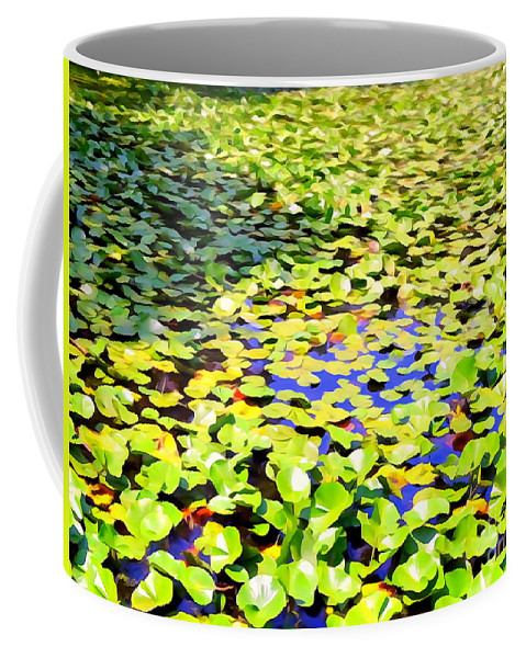 Digital Coffee Mug featuring the photograph The Lily Pond #2 by Ed Weidman