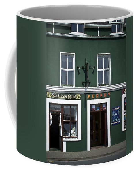 Irish Coffee Mug featuring the photograph The Linen Chest Dingle Ireland by Teresa Mucha