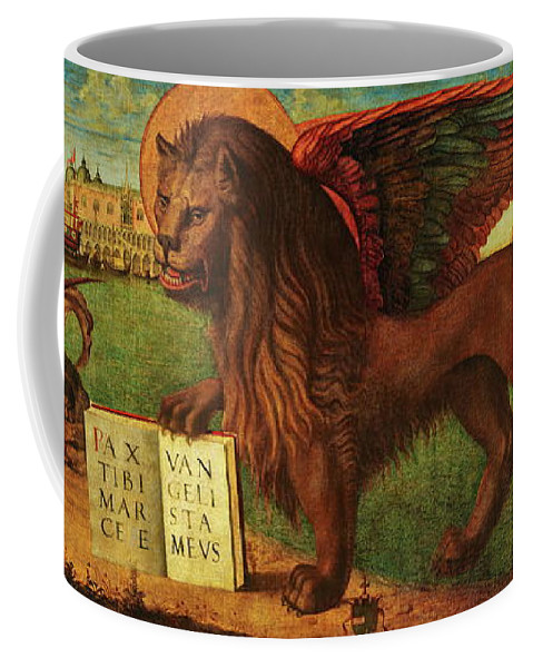 Lion Coffee Mug featuring the painting The Lion Of Saint Mark by Vittore Carpaccio