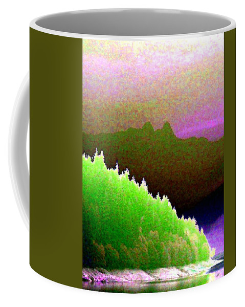 The Lions Coffee Mug featuring the digital art The Lions by Will Borden