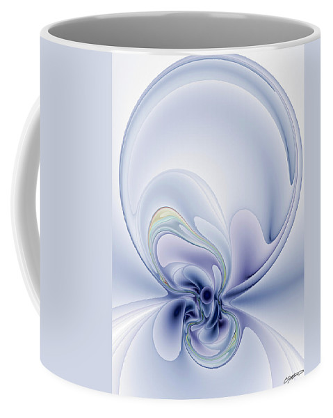 Abstract Coffee Mug featuring the digital art The Liquidity Of Thought by Casey Kotas