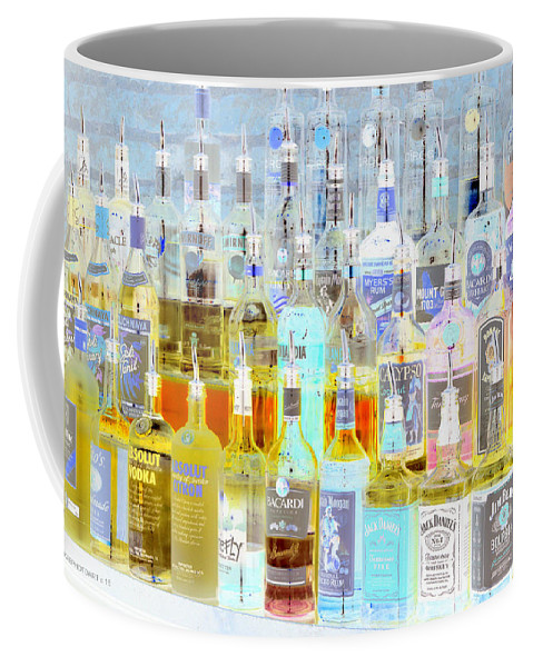 Liquor Cabinet Coffee Mug featuring the photograph The Liquor Cabinet by Kathy Barney