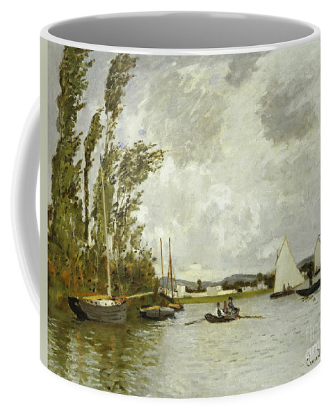 The Little Branch Of The Seine At Argenteuil (oil On Canvas) By Claude Monet (1840-1926) Coffee Mug featuring the painting The Little Branch Of The Seine At Argenteuil by Claude Monet