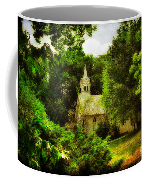 Church Coffee Mug featuring the photograph The Little Church On The Corner by Lois Bryan