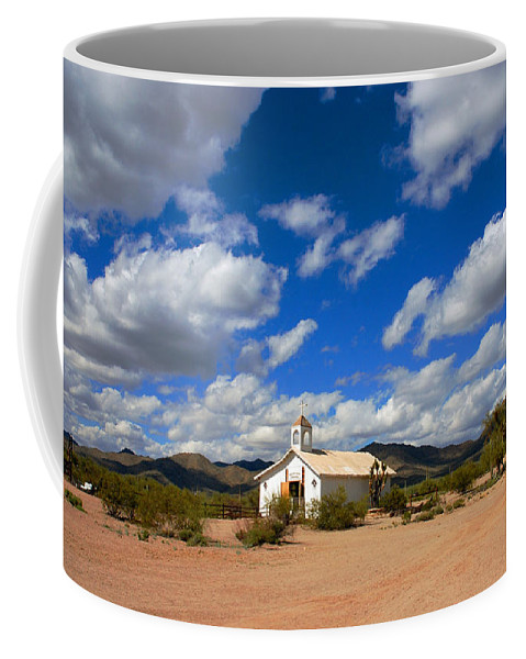 Photography Coffee Mug featuring the photograph The Little Country Church by Susanne Van Hulst
