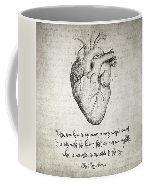 The Little Prince Coffee Mug featuring the drawing The Little Prince Quote by Zapista Zapista