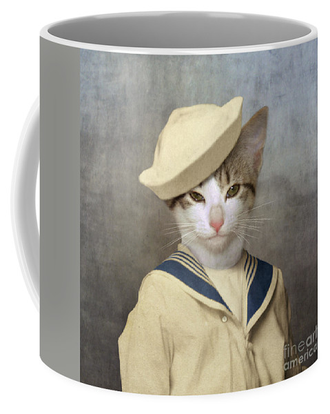 Cat Coffee Mug featuring the photograph The Little Rascal by Martine Roch