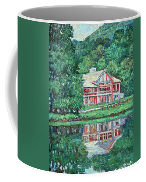 Lodge Paintings Coffee Mug featuring the painting The Lodge At Peaks Of Otter by Kendall Kessler