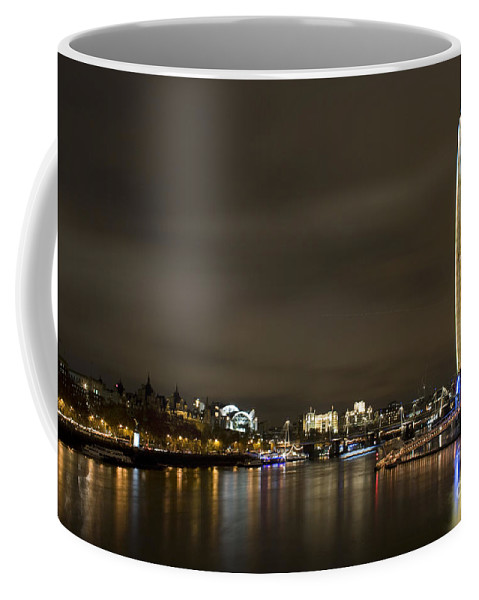 London Coffee Mug featuring the photograph The London Eye by Angel Ciesniarska